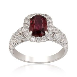 Authentic GIA Certifid Natural Ruby and Diamonds